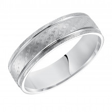 Goldman 14k White Gold Men's 6mm Wedding Band