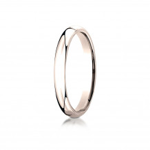 14K Rose Gold Benchmark 3mm Slightly Domed Standard Comfort-Fit Wedding Band