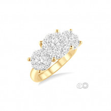 Ashi 14k Yellow Gold Lovebright Round Cut Diamond Engagement Ring