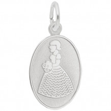 Rembrandt Sterling Silver Flowergirl Charm