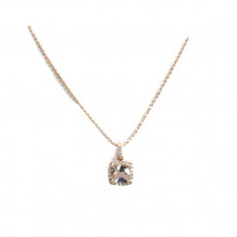 YCH 14k Rose Gold Morganite Diamond Necklace