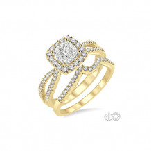 Ashi 14k Yellow Gold Diamond Wedding Set