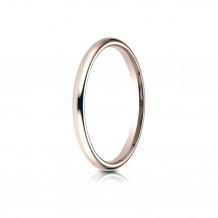 14K Rose Gold Benchmark 2 mm Slightly Domed Standard Comfort-Fit Wedding Band