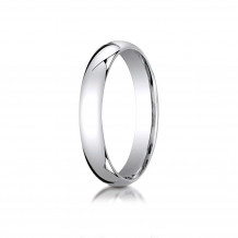 10K White Gold Benchmark 4mm Slightly Domed Standard Comfort-Fit Wedding Band