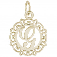 14k Gold Initial G Charm