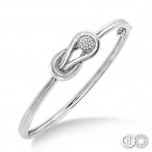 Ashi Diamonds Silver Infinity Bangle