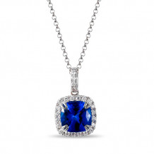 Luvente 14k White Gold Tanzanite and Diamond Necklace
