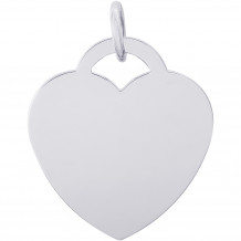 Sterling Silver Lare Heart - Classic  Charm