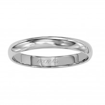 ArtCarved Palladium 3mm Low Dome Comfort Fit Wedding Band