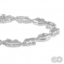 Ashi Diamonds Silver Heart Bracelet