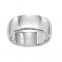 ArtCarved Palladium 7mm Low Dome Comfort Fit Wedding Band