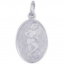 Sterling Silver Femaile Soccer Charm