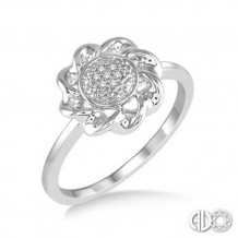 Ashi Diamonds Silver Twisted Ring