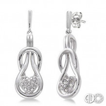 Ashi Diamonds Silver Infinity Heart Earrings