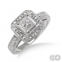 Ashi Diamonds Silver Ring