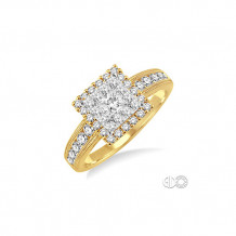 Ashi 14k Yellow Gold Diamond Lovebright Engagement Ring