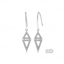 Ashi Diamonds 14k White Gold Diamond Triangle Earrings