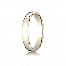 10K Yellow Gold Benchmark 4mm Slightly Domed Standard Comfort-Fit Wedding Band