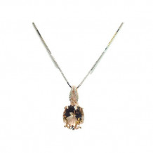 YCH 14k Rose Gold Morganite Necklace