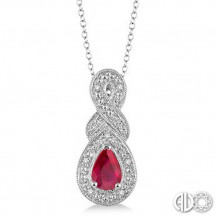 Ashi Diamonds Silver Gemstone Pendant
