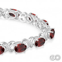 Ashi Diamonds Silver Gemstone Bracelet