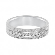 Goldman 18k White Gold Men's Diamond Wedding Band