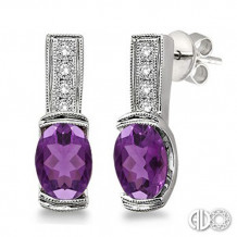 Ashi Diamonds Silver Gemstone Earrings