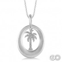 Ashi Diamonds Silver Plam Tree Pendant