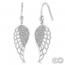 Ashi Diamonds Silver Angel Wing Earrings