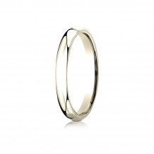 14K Yellow Gold Benchmark 3mm Slightly Domed Standard Comfort-Fit Wedding Band