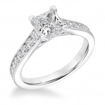 Goldman 14k White Gold 0.38ct Diamond Semi Mount Engagement Ring