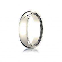 10K Yellow Gold Benchmark 6mm Slightly Domed Standard Comfort-Fit Wedding Band