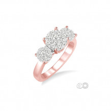 Ashi 14k Rose Gold Lovebright Round Cut Diamond Engagement Ring