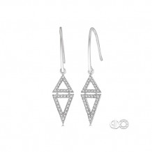 Ashi 14k White Gold Triangle Diamond Earrings