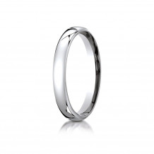 10K White Gold Benchmark 3.5mm  European Comfort-Fit