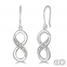 Ashi Diamonds Silver Infinity Earrings
