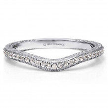 True Romance 14k White Gold 0.14ct Diamond Wedding Band