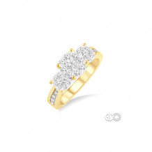 Ashi 14k Yellow Gold Lovebright Round Diamond Engagement Ring
