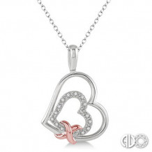 Ashi Diamonds Silver Heart Pendant