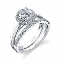 0.14tw Semi-Mount Engagement Ring With 1ct Round Head