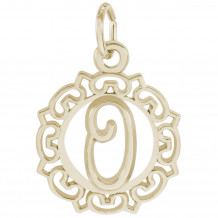 14k Gold Initial O Charm