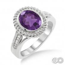 Ashi Diamonds Silver Gemstone Ring