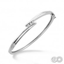 Ashi Diamonds Silver Bangle