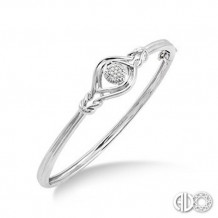 Ashi Diamonds Silver Love Knot Bangle